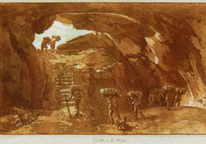 La Grotta dei Ladroni nella tavola di Jean Houel