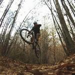 Pineta Cubania, discesa in mountain bike