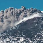 Etna emissioni di sabbia Cratere di Sud-Est