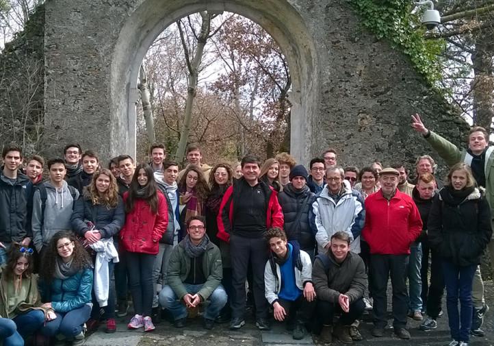 Il gruppo di studenti Erasmus in visita al Parco dell'Etna
