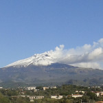 Prima neve sull'Etna