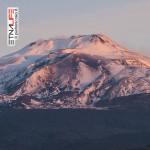 Etna, la situazione neve