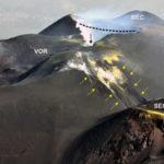 Bollettino INGV sull'Etna: molto cambiata l'area sommitale. Collassati ampi settori del Nord-Est