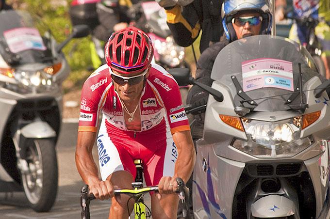 Michele Scarponi, vincitore del Giro d'Italia 2011 a tavolino - Foto Luca