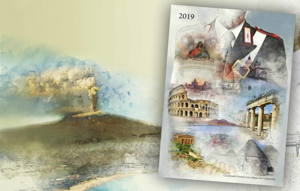 Calendario Carabinieri.C E Anche L Etna Sul Calendario Storico 2019 Dell Arma Dei
