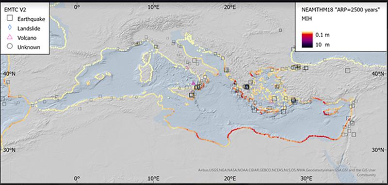 Mare Mediterraneo Cartina.Mar Mediterraneo